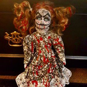 Other - Scary hand-painted doll, COOL!